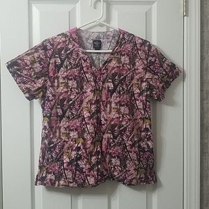 Med couture scrub top sz s
